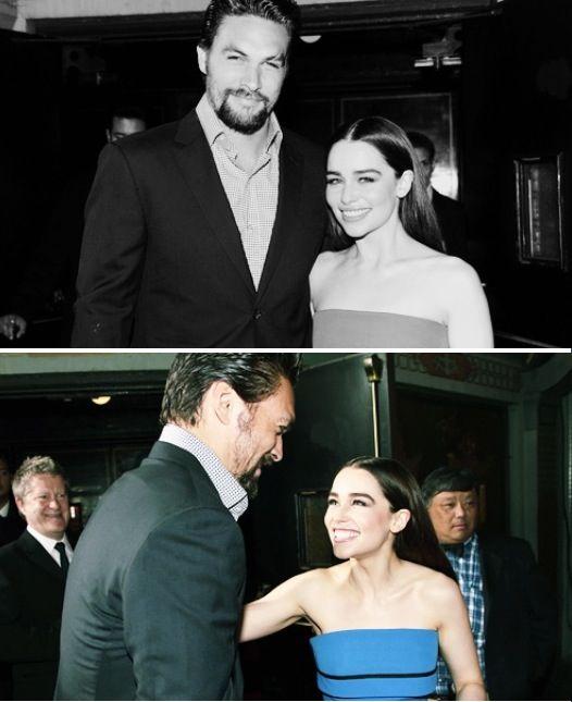 Jason Momoa & Emilia Clarke