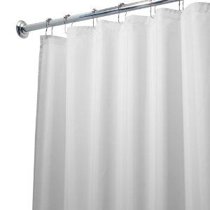 Fabric Shower Curtain Liner Extra Long 84-Inch Shower Curtain Liner