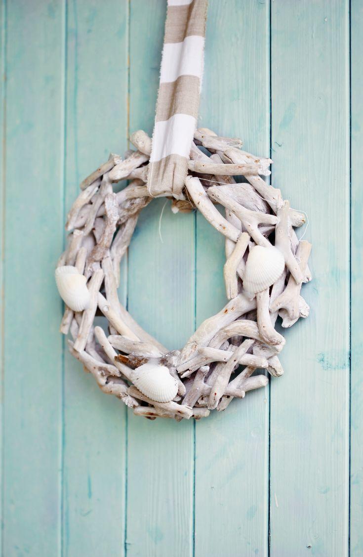 How To Make Beach Cottage Seashell Wreath Nautical Coastal DIY Craft
