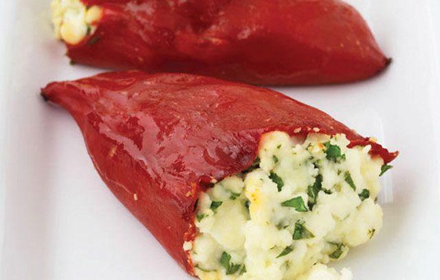 Feta-stuffed Peppers | Tapas / Pinchos / Montaditos | Pinterest