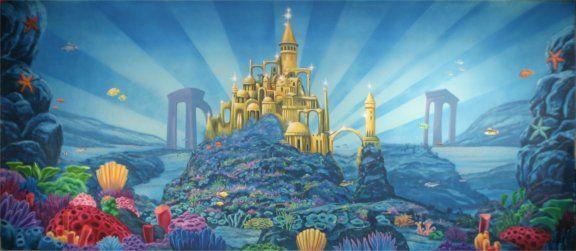 Underwater Mermaid Castle Little Mermaid Underwa...