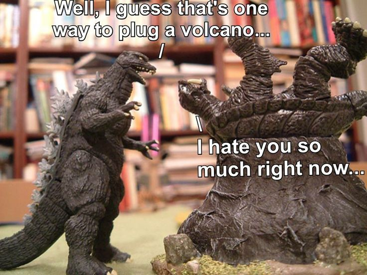 Gamera is not fond of Godzilla's problem solving methods... Thanks Jose of Godzilla Memes