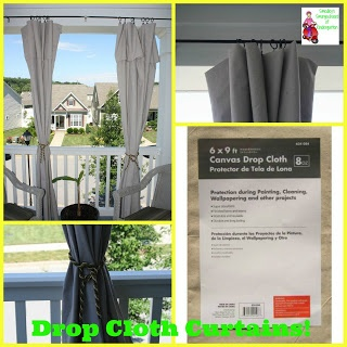 Hometalk diy drop cloth outdoor patio curtains - Pin By Kristin Kristobak On For The Home Pinterest