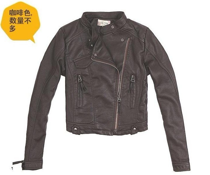 brown dark brow... Leather Jackets For Women Light Brown