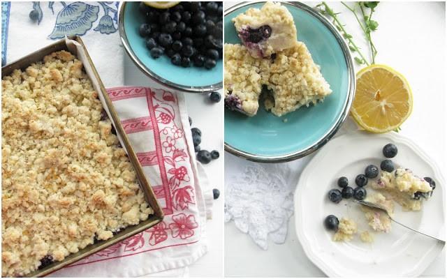 Gluten-free series: blueberry-lemon squares