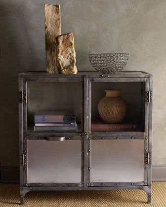metal cabinet at horchow industrial inspiration pinterest