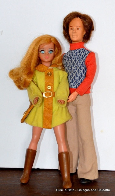 boneca susi e boneco beto década 70