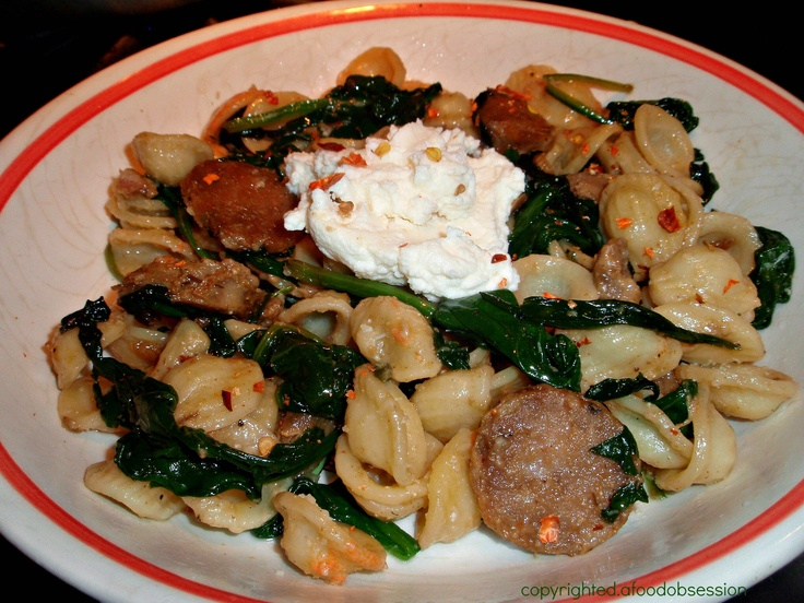 ... fennel pork sausage a little marsala tossed with pecorino topped with