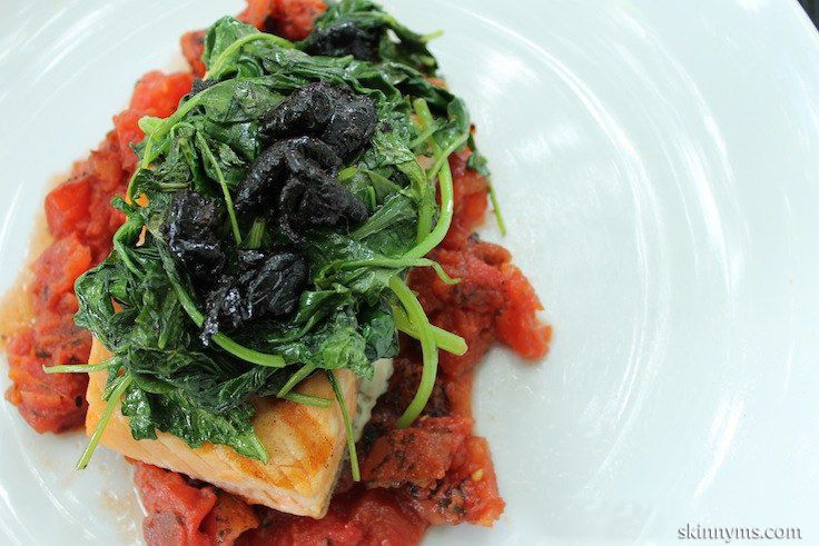 Salmon Provencal with Wilted Spinach and Olives - Impressively ...