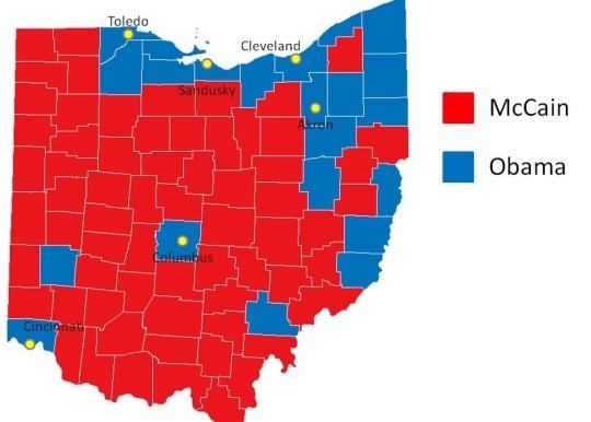 Ohio Electoral Map U2013 Bnhspine.com