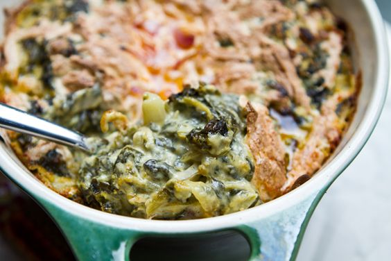 Kraut-based spinach dip, with health-i-fying alternatives. I would not ...