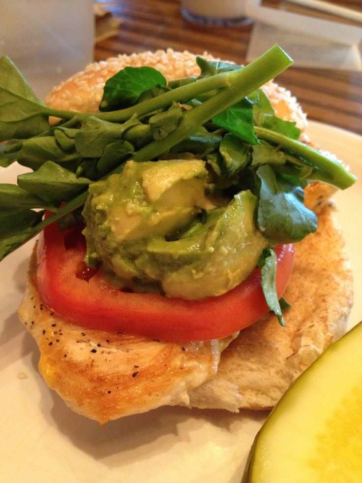 Grilled Chicken Sandwich With Avocado And Tomato Recipe — Dishmaps