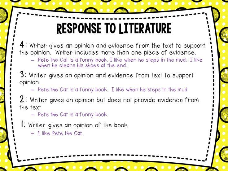 Response to literature essay example