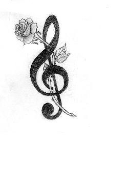 g clef heart tattoo  Uploaded to Pinterest