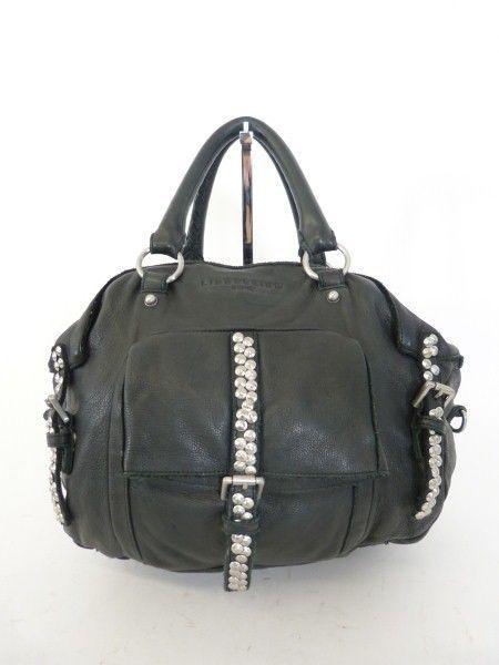 liebeskind leder tasche bag schwarz nieten luxus pur ms414. Black Bedroom Furniture Sets. Home Design Ideas