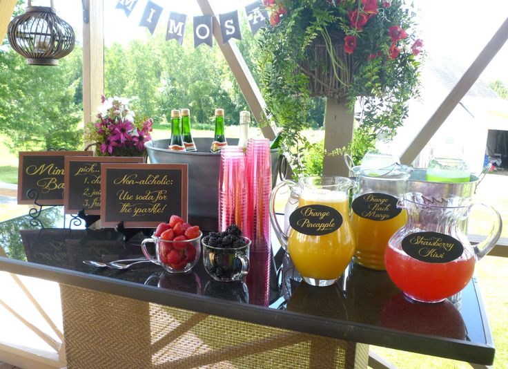 The Mimosa Bar We Set Up For My Daughter 39 S Bridal Shower