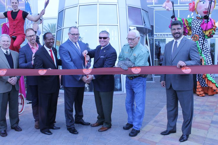 Ribbon Cutting with the gator