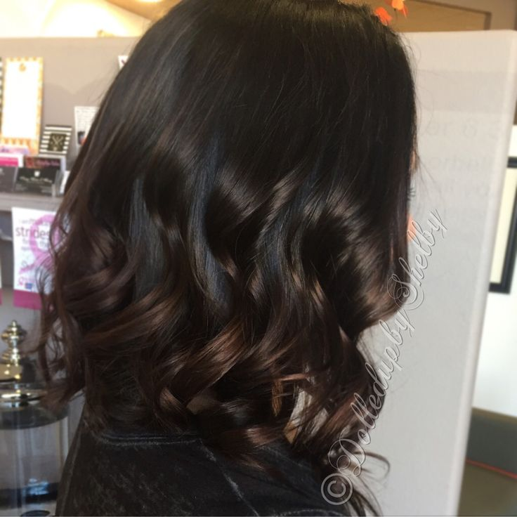 Espresso hair color with highlights