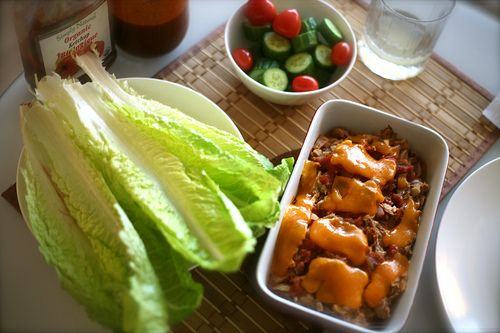 Spicy Tuna Melt Lettuce Wraps | Whats on the Menu | Pinterest
