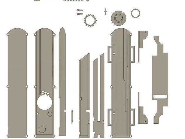 Клинок ассасина двойной механизм схема