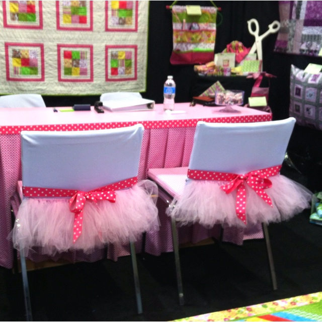 tutu chair covers so cute for a princess or ballerina party or room