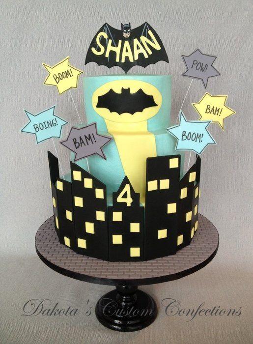 Batman Cake - by Dakota's Custom Confections @ CakesDecor.com - cake decorating website