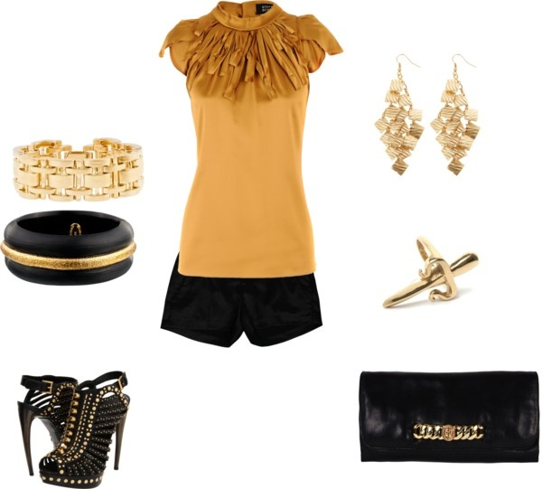 Rockin Gold, created by irma-marie on Polyvore