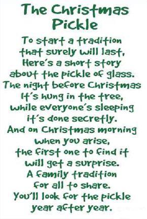 Christmas pickle poem christmas christmas christmas pinterest