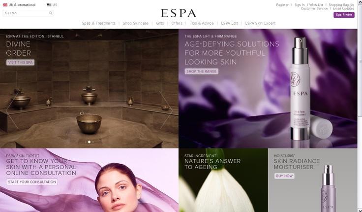 ESPA online homepage