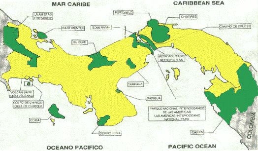 Central America Natural Resources Map