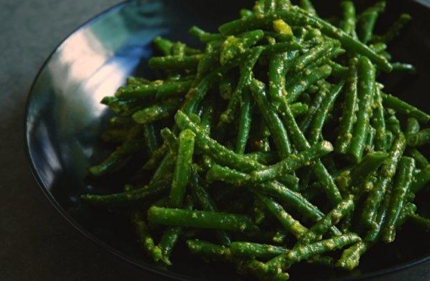 Green Beans With Pistachio Pesto Recipe