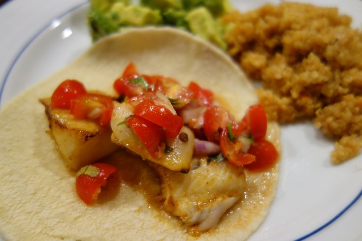 Chipotle Fish Tacos with Tomato Salsa from Sharing Plate