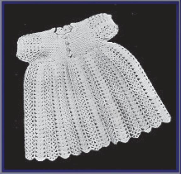Vintage Crochet Baby Dress Pattern : Baby Crocheted Dress (A) Vintage CROCHET BABY & TODDLER ...