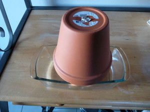 Clay Pot Heater with Candles