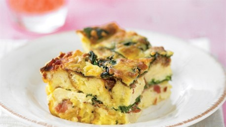 Spinach and cheese strata | Recipe