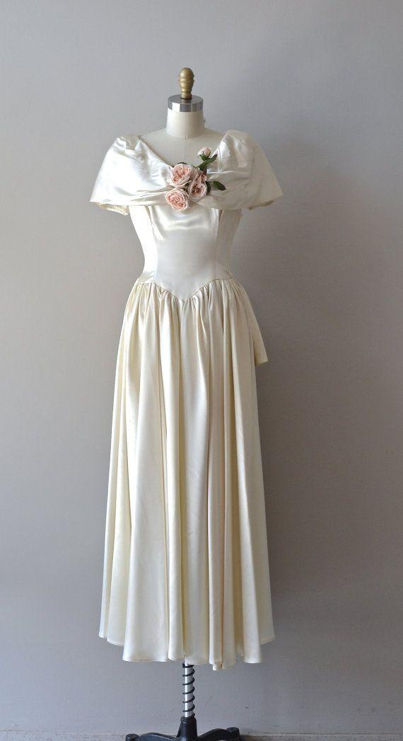 Tout ou rien gown 1940s wedding dress vintage 40s dress