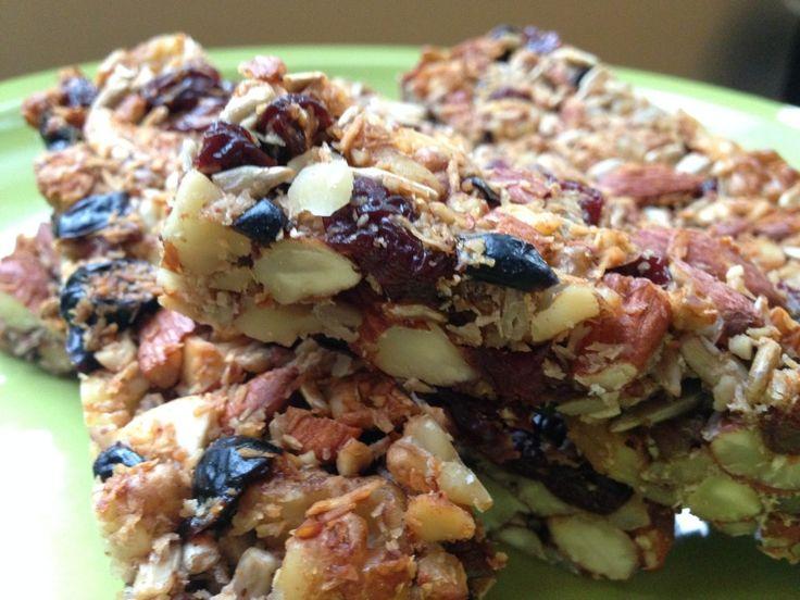 Cherry Cranberry Fruit & Nut Bars | Recipes: Breakfast | Pinterest