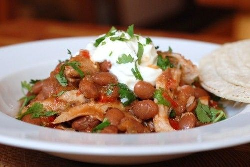 Slow-Cooked Tex Mex Chicken and Beans with chipotle in adobo, cilantro ...