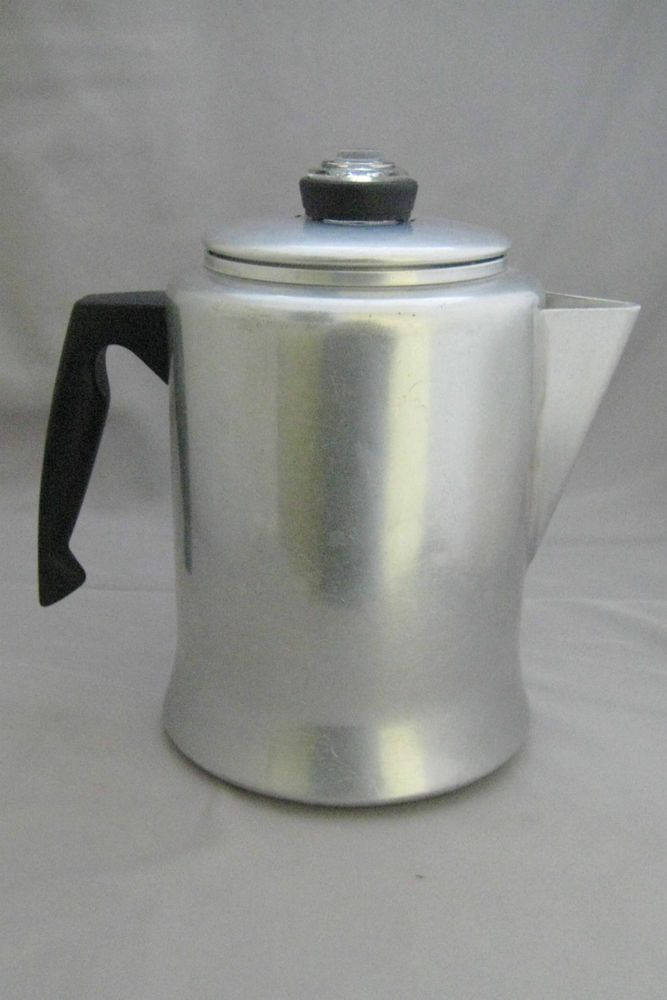 Vintage mirro aluminum 9 cup stove top camping percolator for Best coffee percolator