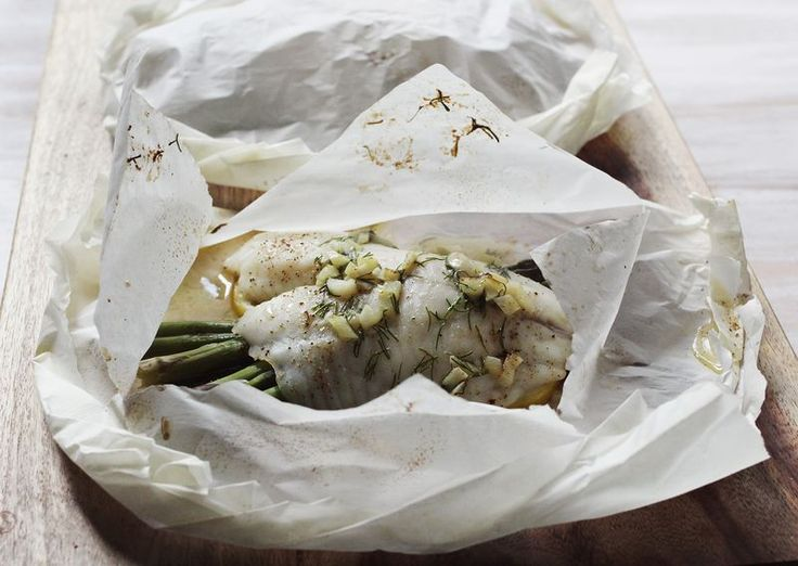 Baked Fish In Parchment Recipe — Dishmaps