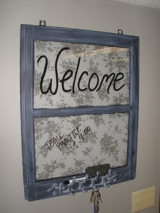 Old wood window craft ideas craft ideas window walls for Old window craft ideas