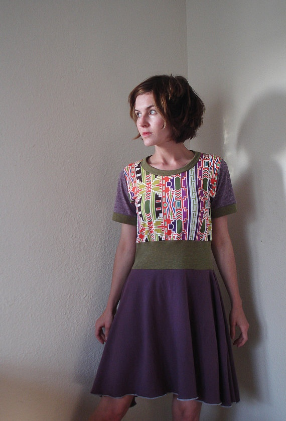 Spicy Toast Cleo Dress with bright neon green & by SpicyToast, $46.00
