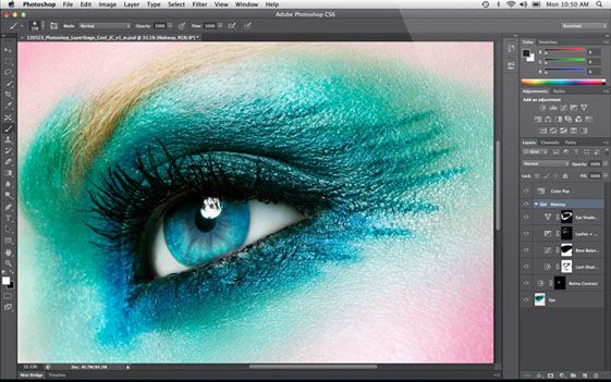 MacBook Pro's new retina display really makes those irises pop.