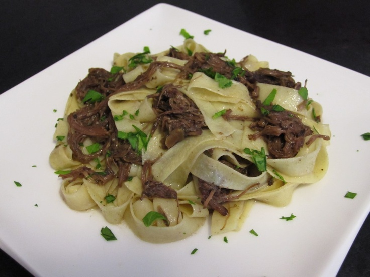 Shredded Short Ribs With Pappardelle Recipe — Dishmaps