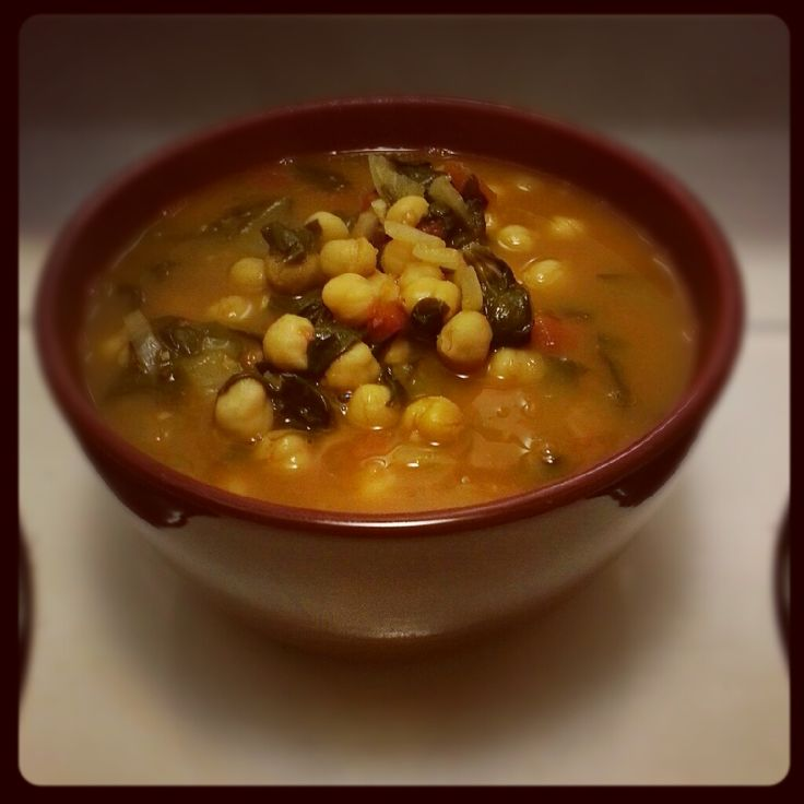 Moroccan Chickpea Soup recipe | Blog Food & Recipes | Pinterest
