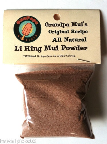 All NATURAL Red Li Hing Mui Powder No Aspartame Nothing Artificial 2 Bags - $15.95