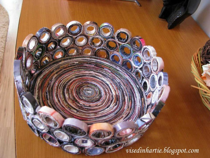 How To Make A Quilling Flower Basket : Quilled basket my likes