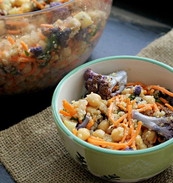 Moroccan Carrot and Chickpea Salad with Dried Plums, Quinoa, and Toas ...