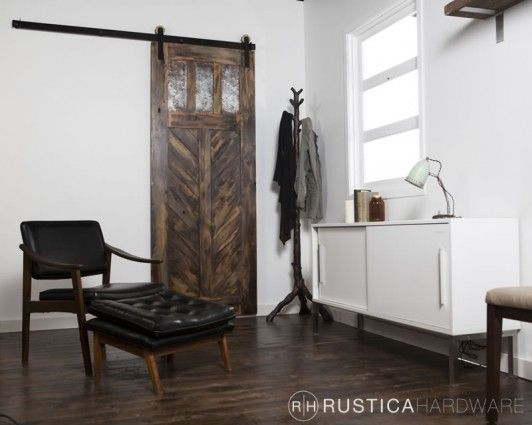 Chevron Style Craftsman Door   Metal Inserts - http://RusticaHardware.com/