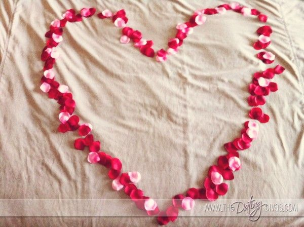 valentine's day bed decoration